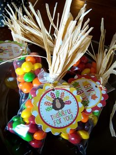 Thanksgiving favor idea. Love the tags and presentation. Reece's pieces would be perfect!