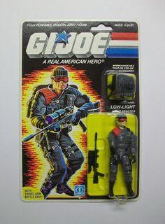 G.I.JOE 1986 LOW-LIGHT MOC C8+/C9  MOMC MIP MIB MISB FREE SHIPPING!! #Hasbro