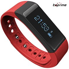 Toprime Fitness Tracker Wearable Waterproof Smart Band with MultiFunctions Black -- Continue to the product at the image link.