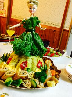 Yellow rice Barbie on birthday party