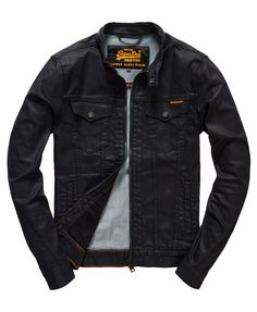 Superdry Biker Black Jacket - Men's Jackets la tengo!