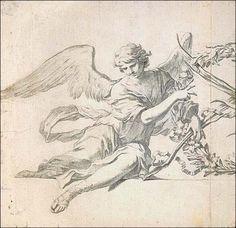 arte anjo preto e branco - Pesquisa Google