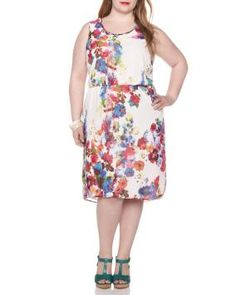 High-low floral print dress $59.99  Sleeveless dress in lightweight georgette is a fabulous choice for all your special occasions this summer! Features a scoop neckline, elastic waist and high-low hemline. Color Ivory #Penningtons