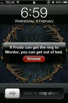 Haha! Best alarm ever!