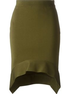 Givenchy юбка миди с баской