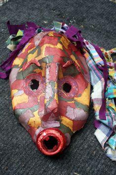 máscara embalagem de plástico