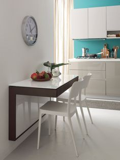 Kitchen Table Mounted to Wall . Kitchen Table Mounted to Wall . Wall Mounted Extending Kitchen Table fortune by Ideas Group Easy Home Decor, Home Decor Trends, Home Decor Kitchen, Kitchen Interior, Interior Design Boards, Decor Interior Design, Wall Mounted Dining Table, Home Furniture, Furniture Design