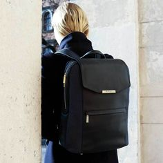 MAI Women's Professional Laptop Backpack & Wristlet in BlackYou can find Laptop backpack and more on our website.MAI Women's Professional Laptop Backpack & Wristlet in Black Leather Laptop Backpack, Computer Backpack, Leather Briefcase, Leather Bags, Black Backpack, Pink Leather, Camo Purse, Laptop Bag For Women, Structured Bag