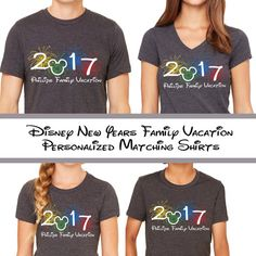1c06e3925 Disneyland New Year Family Vacation Matching by LaughingPlaceTees Family  Vacation Shirts, Disney Shirts For Family