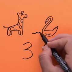 Numbers Number Drawing, Number Art, Creation Art, Drawing Techniques, Drawing Tips, Doodle Art, Diy For Kids, Crafts For Kids, Fun Crafts