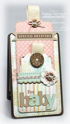 Gorgeous gift card holder for a new baby.  By Debbie Carriere