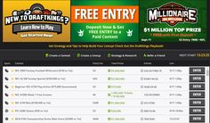 Get a FREE entry in a $5 Million contest with top prize $1 Million! Plus a free entry in $100 000 contest and 5 free entries in $10 000!Only at Draftkings. Click here and start draftings : http://bestkingspromocode.com/  The first offer valid for new players at Draftkings with first deposit of $5 or more, the rest are available to all and do not require a deposit