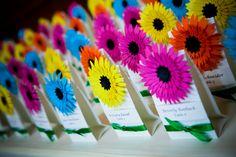 Gerbera Daisy Themed Wedding Favors