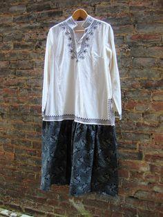 Eco Dress/ Linen Dress/ Womens Dress/ White by RebirthRecycling, $65.00