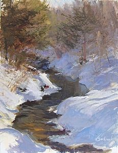 The Mantle's Melt by Richard Kochenash Oil ~ 18 x 14 Painting Snow, Winter Painting, Winter Art, Contemporary Landscape, Landscape Art, Landscape Paintings, Landscapes, Mountain Art, Mountain Paintings