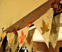 Twine, burlap, silk leaves & mums