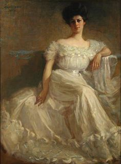 """Leslie Thayer Green"""" by John Willard Clawson, 1907 Green Paintings, Beautiful Paintings, Belle Epoque, 1900s Fashion, Pretty Art, Vintage Photographs, Print Pictures, Female Art, Fine Art America"""