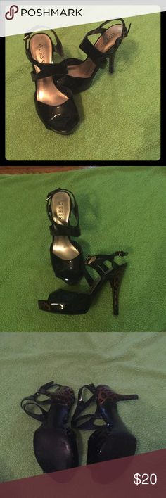 Excellent Condition Guess Heels Good condition. These were worn twice and have held up very well! Make an offer! Guess Shoes Heels
