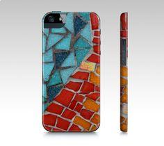 Red or Aqua iPhone 5 Case - JUSTART on ArtofWhere