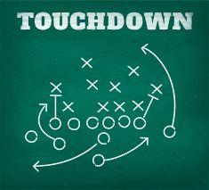 American football touchdown strategy diagram on chalkboard vector art illustrati… – American Football Football Fever, Watch Football, Football Baby, Football Gif, Football Wedding, Football Banner, Football Humor, Football Season, American Football