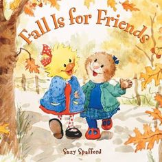 FICTION:Suzy Ducken and her friend, Emily Marmot, love autumn because they like to jump into piles of dry leaves. But the leaves aren't falling from the trees, so the two girls try everything they can think of to encourage the leaves to fall.