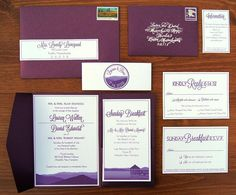 Wouldn't it be Lovely, Mountain Range Wedding Invitation Suite