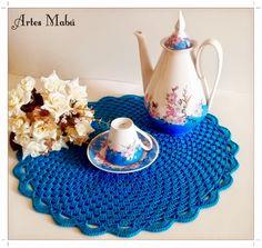 Luciana Ponzo Criações em Crochê: Sousplat de crochê - um charme a parte