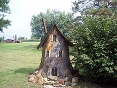 Gnome House. You may not see the gnomes coming or going, but if you walk quietly by their home chances are that you will find some of the things they gathered from your garden in the night.                                                                                                                                                     More