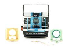 Polaroid Dine Instant Close-Up Camera Model IV . Un des exemplaires customisés pour un usage professionnel particulier (dentiste par exemple !)