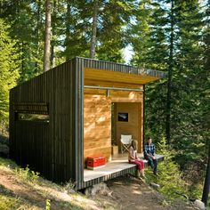 Discover how to build a stylish small cabin in the woods on a tight budget, based on an Oregon couple's masterful DIY project.