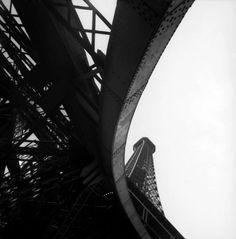 Rene Burri / Eiffel Tower. #photography #blackandwhite
