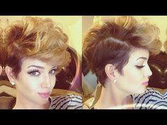 Wie Soll Diese Schöne Frisur Auf Ihre Kurze Haare ?!   erfahren sie in diesem video die perfekte technik für mehr volumen, um ihre haare kurz. Lernen sie die richtige technik für die verwendung mit ihrem lockenstab um diese schöne frisur auf kurze...