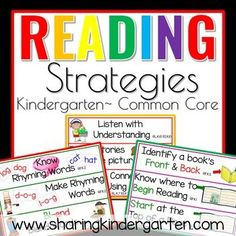 reading strategies center signs for kindergarten