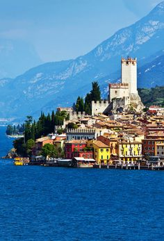 City of Malcesine along with Garda lake, Italy   |  45 Reasons why Italy is One of the most Visited Countries in the World