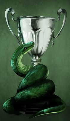mirebast: Slytherin wins the House Cup(I've tried searching, but I can't find a source or a credit link for this gorgeous image.)