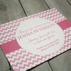 Printable Personalized Invitation- Jenna Collection