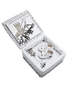 Raspini Baby Box Scarpine: Box 23 x 23 x 13 cm con scarpine cavallino a dondolo e portaciuccio orsetto