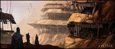 Fremen Settlement /by Mark Molnar #concept #art #SciFi #Dune