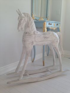 White Rocking Horse collection / Antique by SimplyWhiteStyle