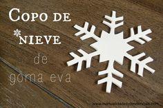 Copo de nieve de goma eva / Foam snowflake | Aprender manualidades es facilisimo.com