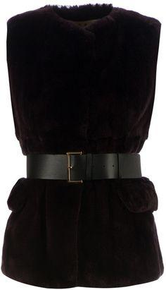 MARNI Black Belted Rabbit Fur Blouse - Lyst