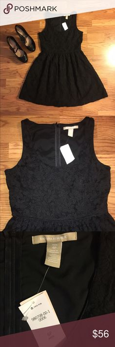 New Banana republic black floral lace sun dress . Banana Republic Dresses