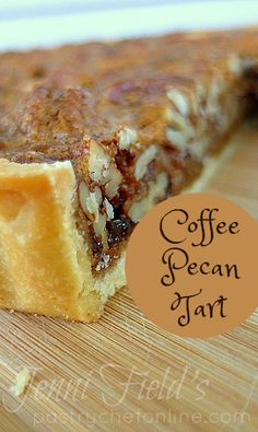 This coffee pecan tart recipe has all the flavor of a lovely pecan pie without all that gooey corn syrup. The coffee flavor works really well with the pecans and is the perfect Thanksgiving dessert recipe.   pastrychefonline.com