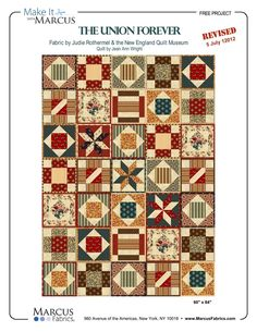 Civil War Potholder Quilts! Beautiful! Each square made and binded then all squares sewn together.