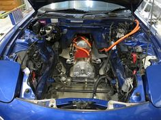 DIY Electric car engine bay | Motors installed in the engine bay. Zilla controller to be mounted ...