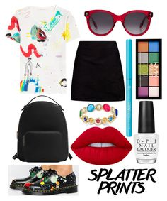 """I'm An Artist"" by thepainted-lady on Polyvore featuring Marc Jacobs, Dr. Martens, Boohoo, MANGO, Alexander McQueen, Lime Crime, OPI, Charter Club, NYX and paintiton"