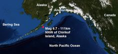 .: Another big one! A mag 6.7 - 111km NNW of Chirikof...