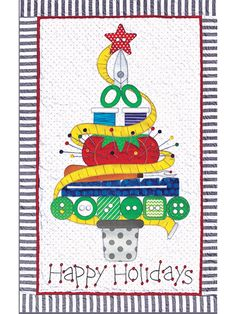 Holiday Sewing Tree Wall Hanging Pattern is a top seller! Order and start quilting today. Christmas Quilt Patterns, Star Quilt Patterns, Quilting Projects, Sewing Projects, Sewing Tools, Bead Kits, Small Quilts, Mini Quilts, Crochet Crafts