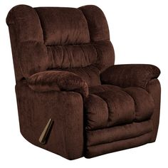 Contemporary Temptation Mahogany Microfiber Rocker Recliner. This plush rocking recliner provides excellent comfort. Reclining furniture offers the best in relaxation for you to kick up your feet to watch TV, work on a laptop, or to just hang out with family and friends. With a quick pull on the lever you can situate yourself in a comfortable position. Recliners provide good neck and lumbar support, making them the most popular seating choice for everyday use. If you're on the market for a…
