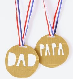 And We Play Father's Day medals kids can make craft